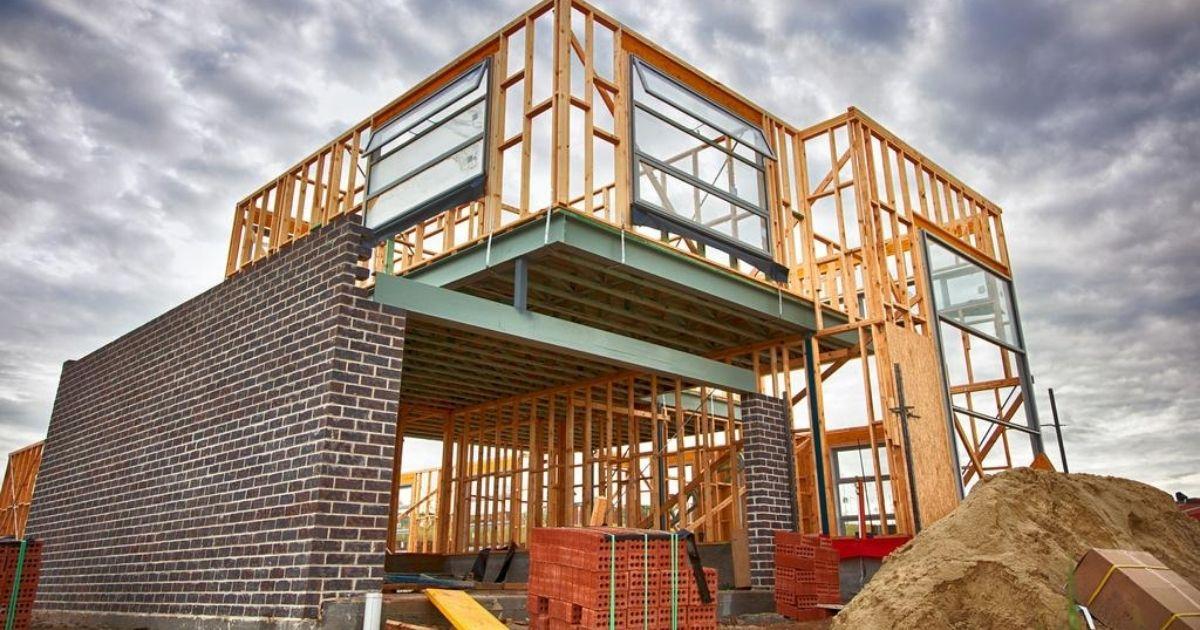 home building construction site